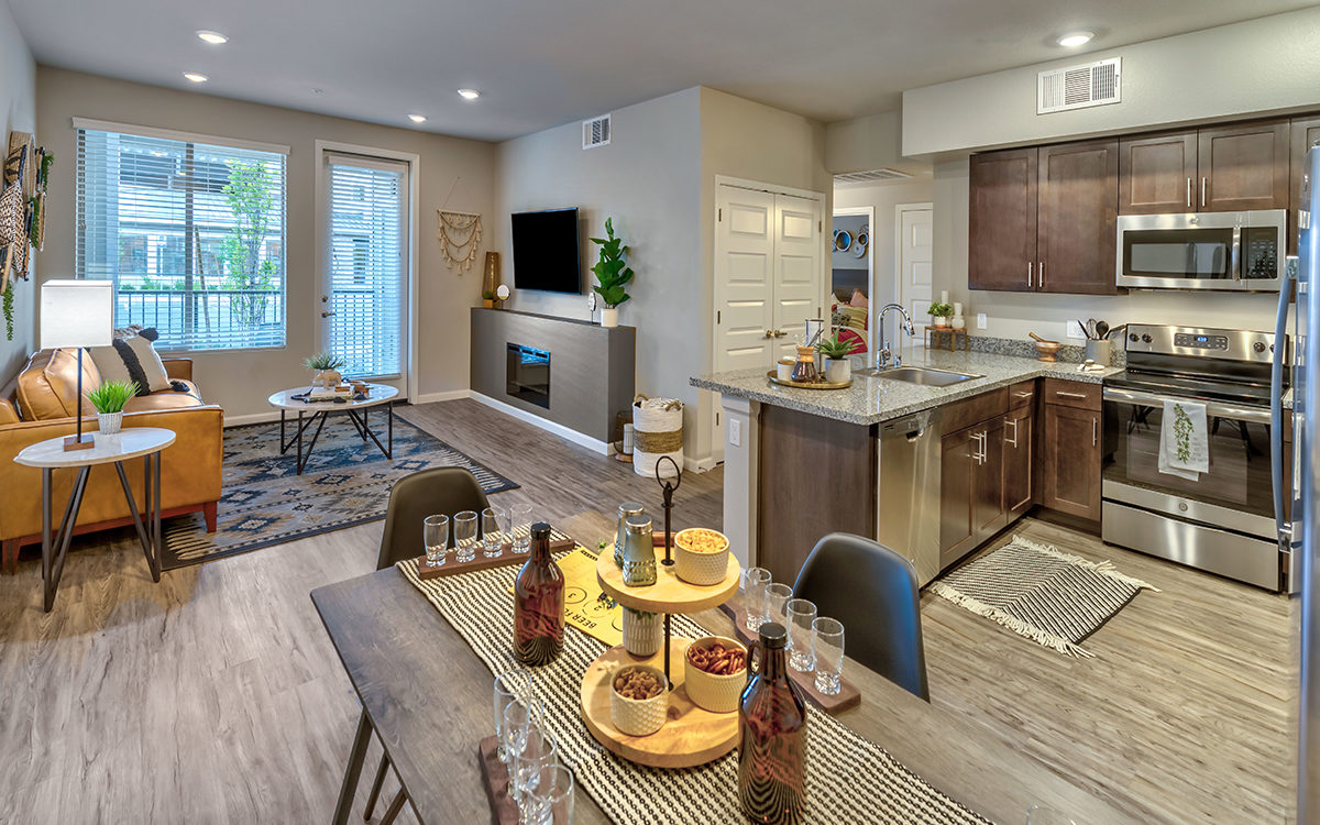 Carson Hills Apartments - Carson City NV - Living Room and Kitchen